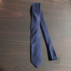 J Crew Silk Tie Navy w/ white dots